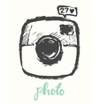 Hipster photo camera drawn vector image vector image