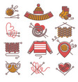 knitted clothing or knitwear winter clothes scarf vector image vector image