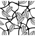 leaves and branches decorative repeating pattern vector image vector image