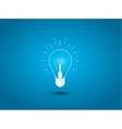 Light bulb idea icon on blue background vector image vector image