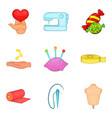 love choice icons set cartoon style vector image vector image