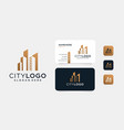 luxury building logo design with business card