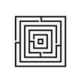 maze logo vector image