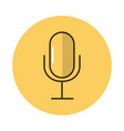 microphone sound block style icon vector image vector image