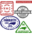 North Carolina in stamps vector image vector image