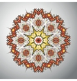 Ornamental round geometric pattern in latin vector image vector image