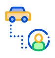 passenger destination online taxi icon vector image