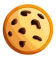 peanut cookies icon cartoon style vector image