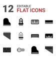 piano icons vector image vector image