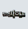portfolio creative word banner vector image