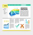 realistic infographic design website template vector image vector image