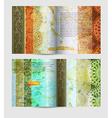 Rustic Brochure Template Set vector image
