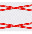 sale restriction red stripes discount zone vector image
