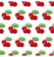 seamless cherry pattern vector image