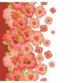 Seamless floral pattern with pretty stylized vector image vector image
