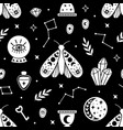 seamless pattern with black halloween elements vector image vector image