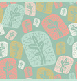 seamless pattern with the image of abstract plants vector image