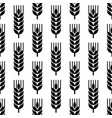 seamless wheat ear background vector image vector image