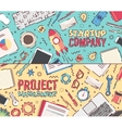 Set flat startup company project management vector image vector image