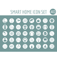 Smart house concept Icon set Flat style design vector image vector image