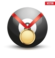 Sport gold medal with ribbon for winning pool vector image vector image