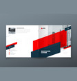 square brochure design red corporate business vector image