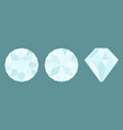 three different views of large diamond cutting vector image