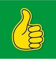 Thumb up using Brazil flag colors vector image vector image