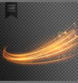 transparent light effect with curve trail and vector image vector image