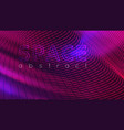 ultraviolet neon abstract wavy background vector image