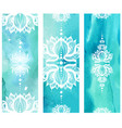 vertical banner with lotuses vector image vector image