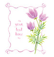 watercolor flowers and ribbons vector image