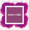 watercolor purple emblem decorative art vector image