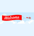 welcome card vector image