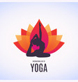 woman doing asana for vector image