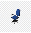 isolated chair isometric office element vector image