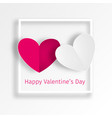 two hearts of a loving couple vector image
