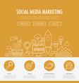 social media marketing landing vector image