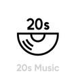 20s music vinyl icon editable line vector image vector image