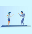 abstract business man and woman talking vector image vector image