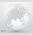 abstract planet earth with polygonal connecting vector image vector image