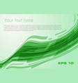 abstract wave rectangle background in green color vector image vector image