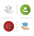 accessible or free education icon vector image vector image