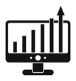 advertising monitor chart icon simple style vector image vector image