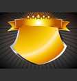 Beautiful gold shield vector image vector image