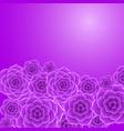 beautiful violet rose flower background vector image vector image
