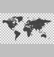 blank black world map on isolated background vector image vector image