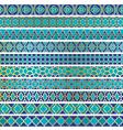 blue moroccan borders vector image vector image