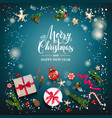 blue winter square background vector image