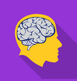 brain icon flat single education icon from the vector image